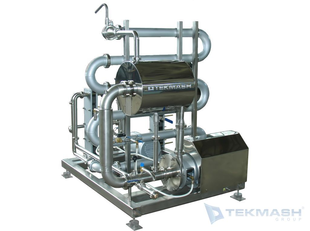 Juice and fruit puree pasteurizer